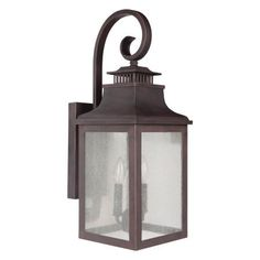 Y Decor EL2283RT Modern Transitional Traditional 2 Light Rustic Bronze Exterior Outdoor Light Fixture with Clear Seedy Glass Sma, Gold