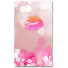 Make up Artist Business Card Pink Lips & Lights by Spa Cards