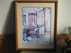 Norman Rockwell Print Spring Flowers 1969 Home by LazyYVintage