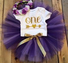 First Birthday Outfit Girl, Purple and Gold Girl, Purple Baby, Smash Cake Girl, Birthday Girl O First Birthday Outfit Girl, Baby Girl 1st Birthday, Birthday Tutu, Birthday Ideas, Cute Outfits For Kids, Diy For Girls, Baby Cake Smash, Smash Cakes, Fall 1st Birthdays