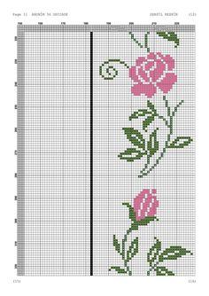 Cross Stitch Designs, Cross Stitch Patterns, Crochet, Indigo, Jewellery, Punto Cruz Gratis, Cross Stitch Rose, Hand Towels, Hand Embroidery Stitches