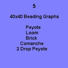FREE! 5 Graphs  http://www.bead-patterns.com/shop/shop.php?method=itemnumber=607
