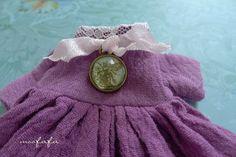 Mooji dress  Light Purple Red  Short Sleeves