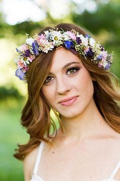Flower crown Dried Floral hair wreath Bridal by AmoreBride, $82.00