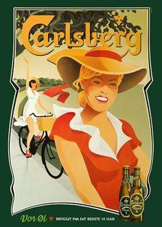 Carlsberg Poster » Vor Øl (Our beer) » by Niels Ditlev