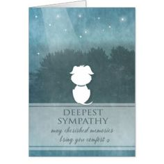 Visit http://jagifts.us/DogSympathyTealCherishedMemories - Dog Sympathy Teal  - May Cherished Memories Bring Comfort Card by Julie Alvarez Designs. You can customize the inside greeting of this card if you wish to make your message more personal. #dogsympathy #cherishedmemories