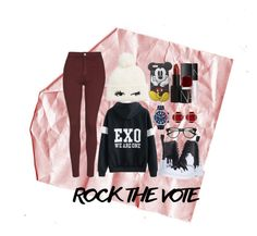 """Rock The Vote"" by overdue22 on Polyvore featuring Topshop, Dr. Martens, Kate Spade, Brera Orologi, Wet Seal, NARS Cosmetics, Vita Fede and country"