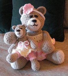 Crocheted teddy bear stuffed animal doll by GritSadlerOriginals
