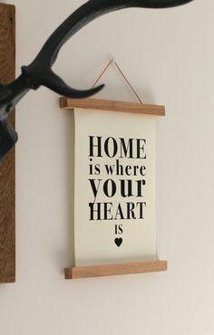 Digitaldruck - Poster HOME IS ... DIN A4 - ein Designerstück von Heimwerk_Design…