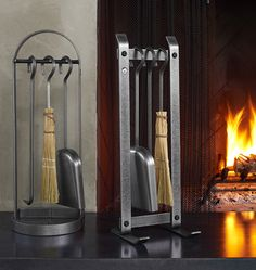 Rejuvenation Made in America: Modern Hearth Tool Set Holiday Inspiration, Fireplace Tool Set, Bath Hardware, Hearth, Fireplace Tools, Modern, Settings, Cool Diy, Modern Fireplace
