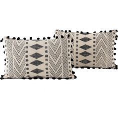 Dhurrie Faded Black Tribal Block Print Lumbar Pillows Zin Home (260 PEN) ❤ liked on Polyvore featuring home, home decor, throw pillows, cotton throw pillows, black toss pillows, lumbar throw pillow, black throw pillows and tribal throw pillows