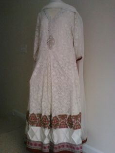 Pakistani sana safinaz inspired anarkali white by AoneGoodDeals, $185.00