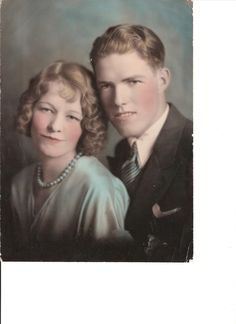FamilySearch...my grandparents: Vaughn Elijah Maxfield and Myrtle Merle Rees Maxfield Heywood.  This is their wedding pic...later divorced.