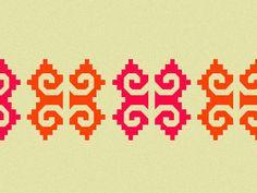 Mexican pattern for Cinco de Mayo by Aviva Maltin on dribbble