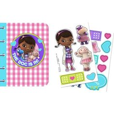 Doc McStuffins Sticker Book (4 Count) - Stickers & Tattoos & other Party Favors from Birthday in a Box