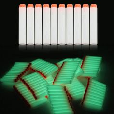 Glow 100pcs 7.2cm Refill Bullet Darts for N-strike Elite Series toy Gun LA