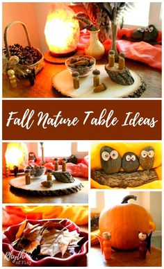 Use these fall nature table ideas to create a nature table in your home. They…