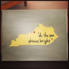 "Only I would use sundy best's ""I wanna go home"" @Devan Brennan Gaddie could you make me one just like this but with the star on Hazel Green KY?? And the sundy best lyrics?"