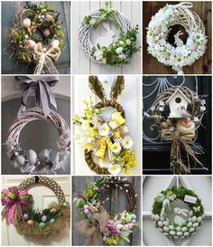 Couronne Diy, Christmas Door Decorations, Wreath Crafts, Easter Wreaths, Grapevine Wreath, Diy And Crafts, Projects To Try, Holiday, Handmade