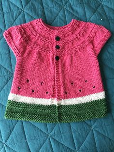 "Ravelry: Project Gallery for ""in threes"": a baby cardigan pattern by Kelly Herdrich"