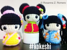 Kokeshi dolls I made from a pattern by www.etsy.com/shop/mutts