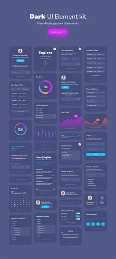 Dashboard Ui, Dashboard Design, App Ui Design, User Interface Design, Ui Elements, Design Elements, Adobe Xd, Ui Kit, Data Visualization