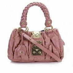 miu miu Matelasse Top Handle Bags 0473S Purple