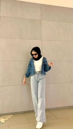 Hijab Fashion Summer, Teen Fashion Outfits, Ootd Fashion, Fashion Wear, Casual Hijab Outfit, Casual Outfits, Hijab Fashion Inspiration, Professional Outfits, Aesthetic Clothes
