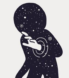O desfocado ponto pálido em meio a imensa escuridão cósmica