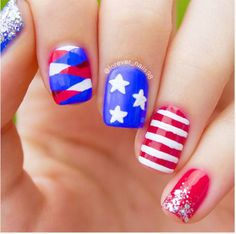 57 Best American Flag Nail Art Designs Images On Pinterest In 2018