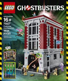 LEGO Ghostbusters building toys are compatible with all LEGO construction sets for creative building. Featuring settings and characters from the 1984 Ghostbusters movie. Ghostbusters Theme, Ghostbusters Firehouse, Lego Building, Huge Lego Sets, Best Lego Sets, Legos, Die Geisterjäger, Shopping, Lego City