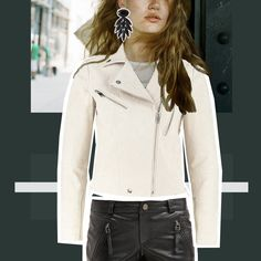 A white leather jacket!