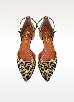 Brogue Kitty Leopard Print Haircalf D'Orsay Flat - Charlotte Olympia Shoe Department, Style Wish, All About Shoes, French Chic, Charlotte Olympia, Brogues, Ankle Strap, Dust Bag, Fashion Shoes