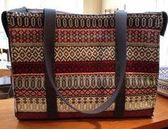 Large tote bag with Rosepath design