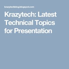 recent paper presentation topics