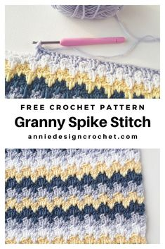The Granny Spike Stitch creates a substantial fabric with a lot of visual interest and loads of potential for colour play. It is a very relaxing stitch to work. You can change colours every row, or… Stitch Crochet, Crochet Granny, Crochet Baby, Knit Crochet, Crochet Stitches Patterns, Stitch Patterns, Knitting Patterns, Amigurumi Patterns, Easy Knitting Projects