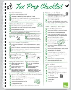 Handy, Printable #Tax Prep Checklist from @HRBlock