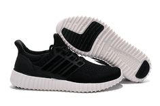 7c8e2bdb4 Adidas Yeezy Ultra Boost 2016-2017 Black White Sole Black White UK Trainers  2017 Running Shoes 2017