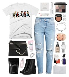 """""""Prada Spice"""" by sophiehackett ❤ liked on Polyvore featuring Nasty Gal, Chloé, Christian Dior, Bioeffect, Klorane, Dogeared, Pieces, Kjaer Weis, Guerlain and Bobbi Brown Cosmetics"""