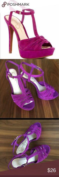 T Strap Platform Sandle Magenta, feminine and flirty T strap platform Sandler by Jessica Simpson. Jessica Simpson Shoes