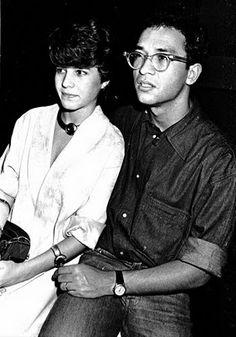 Paula Toller e Herbert Vianna,  show de Lulu Santos - Morro da Urca, 1985