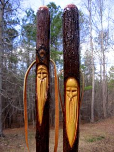 free wood patterns for carving walking sticks Walking Sticks For Sale, Handmade Walking Sticks, Hand Carved Walking Sticks, Wooden Walking Sticks, Walking Sticks And Canes, Walking Canes, Wood Carving Faces, Dremel Wood Carving, Wood Carving Patterns