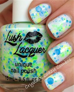 NEW NeonIt's A Breeze  CustomBlended NEON Glitter by lushlacquer, $9.00