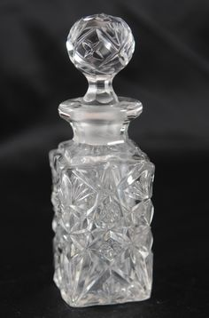 Perfume Bottle Cut Glass