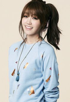 """I need bangs. And I have had an epiphany when watching a K-Pop video and realized Korean chicks aways have perfect hair. So here's looking at you """"Eunji"""" you be rocking those bangs."""