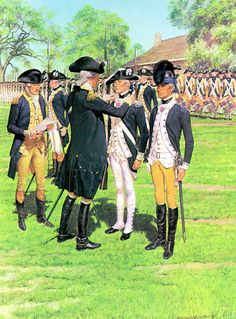 Newburgh, 1783 decorations presented to heroes of the Revolution. American Revolutionary War, American War, American Soldiers, Early American, American History, Independence War, American Independence, Military Art, Military History