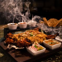 Enjoy delicious food and beverage at Mughal restaurant of Clarks Shiraz Agra. The Hotel can also organise theme parties, private bar-be-ques by the pool side. Theme Parties, Agra, Modern Luxury, Delicious Food, Taj Mahal, Buffet, Tea Lounge, Beverages, Menu