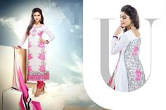 USD 63.97 White Georgette Casual Wear Churidar Suit 42616