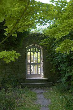 secret garden Gate to the vegetable garden at Gresgarth Hall, UK, by Adrian Turner Garden Doors, Garden Gates, Gothic Garden, Fence Gate, Iron Gates, Entrance Gates, Garden Structures, Dream Garden, Arches