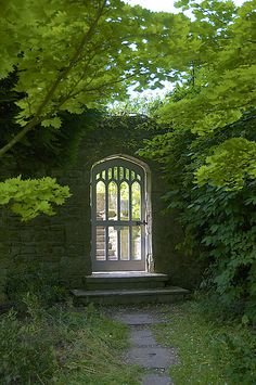 Gate to the vegetable garden at Gresgarth Hall, UK, by Adrian Turner